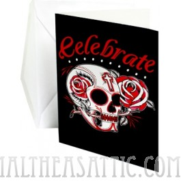 Celebrate Sugar Skull Greeting Card