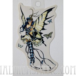 Symphony in Black & White Fairy Decorative Sticker Decal By Nene Thomas