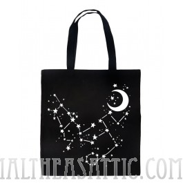 Constellation Stars & Moon Tote Bag