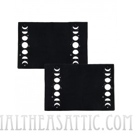 Phases Of The Moon & Stars Black Pillowcase Set