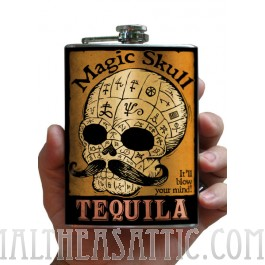 Magic Skull Tequila flask