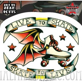 Adam Potts Live To Skate Roller Derby Sticker