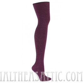 Plum Rib Over The Knee Socks