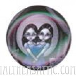 Two Headed Girl Button