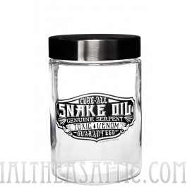 Glass Apothecary Snake Oil Jar