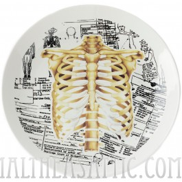 Ribcage Anatomy Porcelain Plate