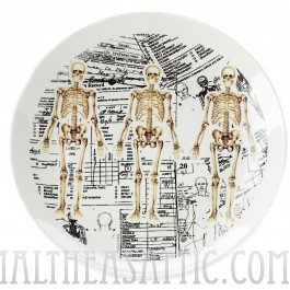 Skeleton Anatomy Porcelain Plate
