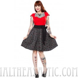 Sourpuss Spider Swing Skirt