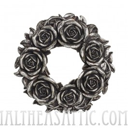 Resin Black Rose Wreath