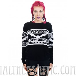 Stay Creepy Bats Cult Sweater