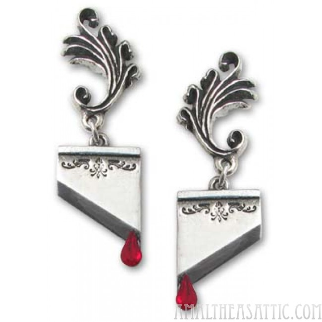 guillotine earrings antoinette guillotine blade earrings 2629