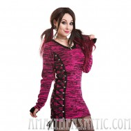 Bleeding Heart Corset Lace Top