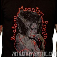 Sourpuss Black Kustom Monster Parts Womens Shirt with Stitched Up Girl from