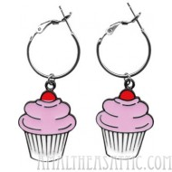 Cupcake Hoop Earrings
