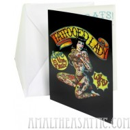Tattooed Lady Congratulations Card