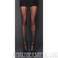 Stripes and Lace Pantyhose
