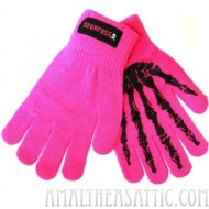 Pink Bone Gloves