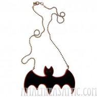 Acrylic Bat Necklace