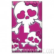 Girly Skull Switchplate