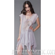 Lip Service Love Never Dies Ghostly Sheer Drop Waist Dress