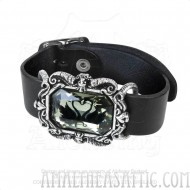 Black Swan Black Leather Wriststrap