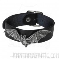 Desmodus Black Leather Bat Wriststrap