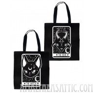 The Witch & Devil Tarot Card 2 Sided Tote Bag
