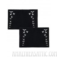 Bats & Stars Black Halloween Pillowcase Set