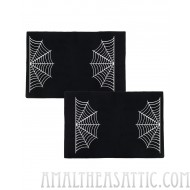 Spider Webs Black Halloween Pillowcase Set
