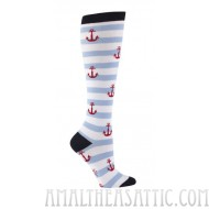 Anchors Away Knee Socks