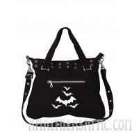 Halloween Bats Black Canvas Pistol Belt Bag