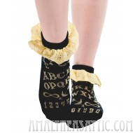 Ouija Board Eyelet Ankle Sock