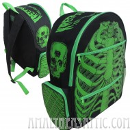Kreepsville 666 Green Ribcage Back Pack
