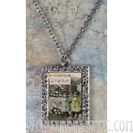 Vintage Photo Pendant Necklace - Rose and Aster Deadly Lemonade