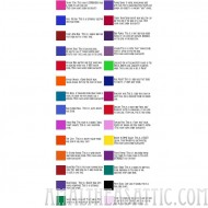 Special Effects Color Chart
