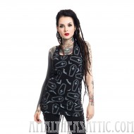 Coffin Print Crypt Top