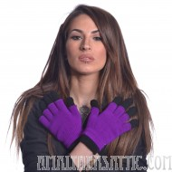 Double Purple and Black Gloves