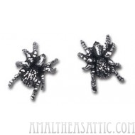 Black Widow Spider Earrings