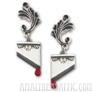 Marie Antoinette Guillotine Blade Earrings