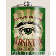 Absinthe Green Eye flask