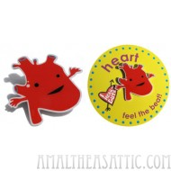 Heart Lapel Pin - Feel the Beat!