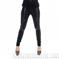 Hiro Black Strapped Leggings