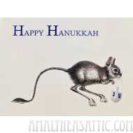 Kangaroo Mouse Happy Hanukah Greeting Card