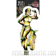 Adam Potts Jammer Beware Roller Derby Sticker