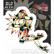 Adam Potts Blocker Roller Derby Sticker