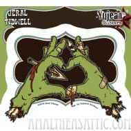 Jeral Tidwell Zombie Love Hands Sticker