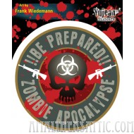 Frank Wiedemann Zombie Apocalypse: Be Prepared!! Sticker