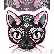 Miss Cherry Martini Pink Cat Sticker