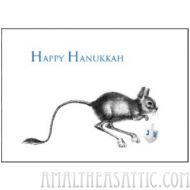 Kangaroo Mouse Happy Hanukkah Greeting Card