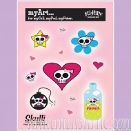 Girly Skull Multi Pak Stickers